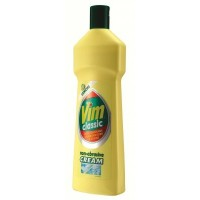 Vim Lemon Classic Cream Cleaner, 500ml per bottle, Trade Pack of 12