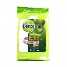 Dettol Multi-Action Anti-Bacterial Floor Wipes (15 Extra Large Wipes)