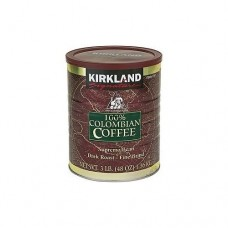 Kirkland Signature 100% Colombian Filter Coffee Supremo Bean Dark Roast - Fine Grind 1.36kg